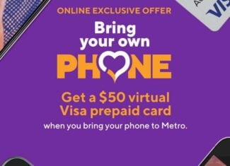 Bring Your Own Phone To Metro-By-T-Mobile Get $50 Virtual Visa Prepaid Card
