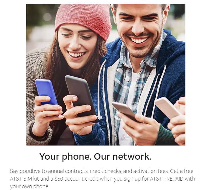 AT&T Prepaid Offering Customers Who Bring Their Own Phone Free $50 Account Credit