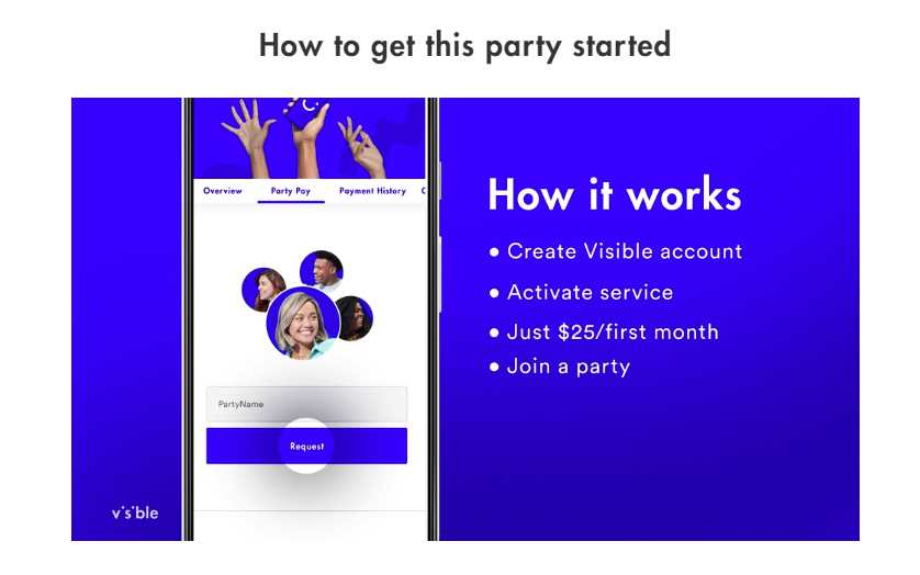 Visible Launches Party Pay Multi-Line Discounts