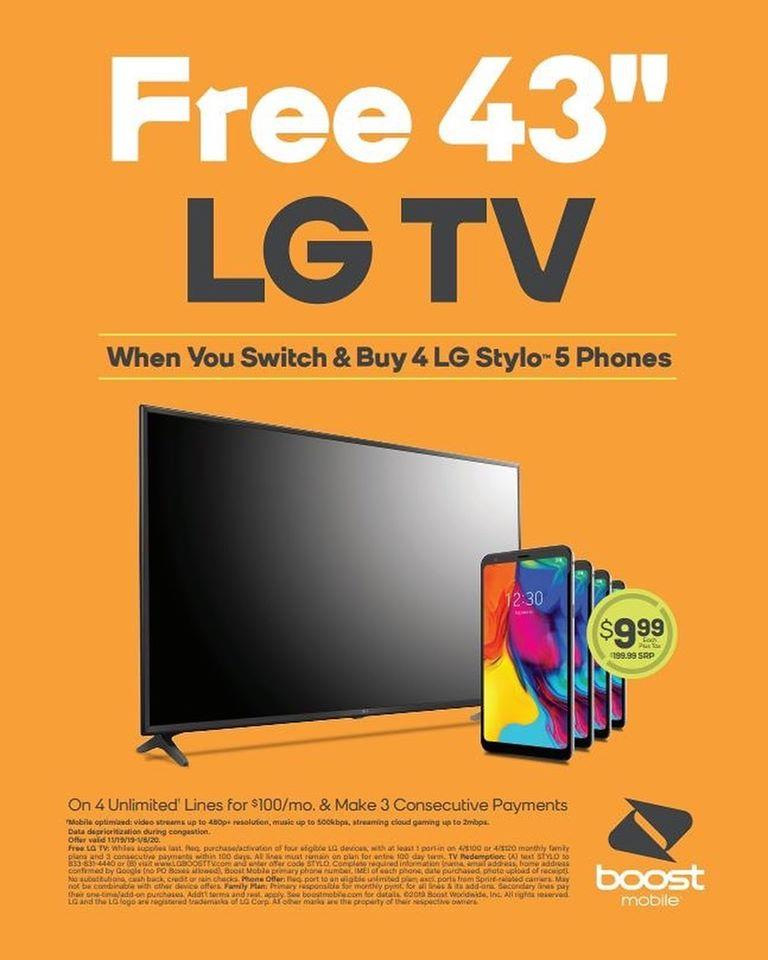Free LG TV Offer From Boost Mobile