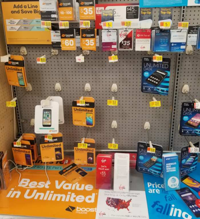 Virgin Mobile Brand Pulled Out Of Local Walmart, Photo October 11, 2019