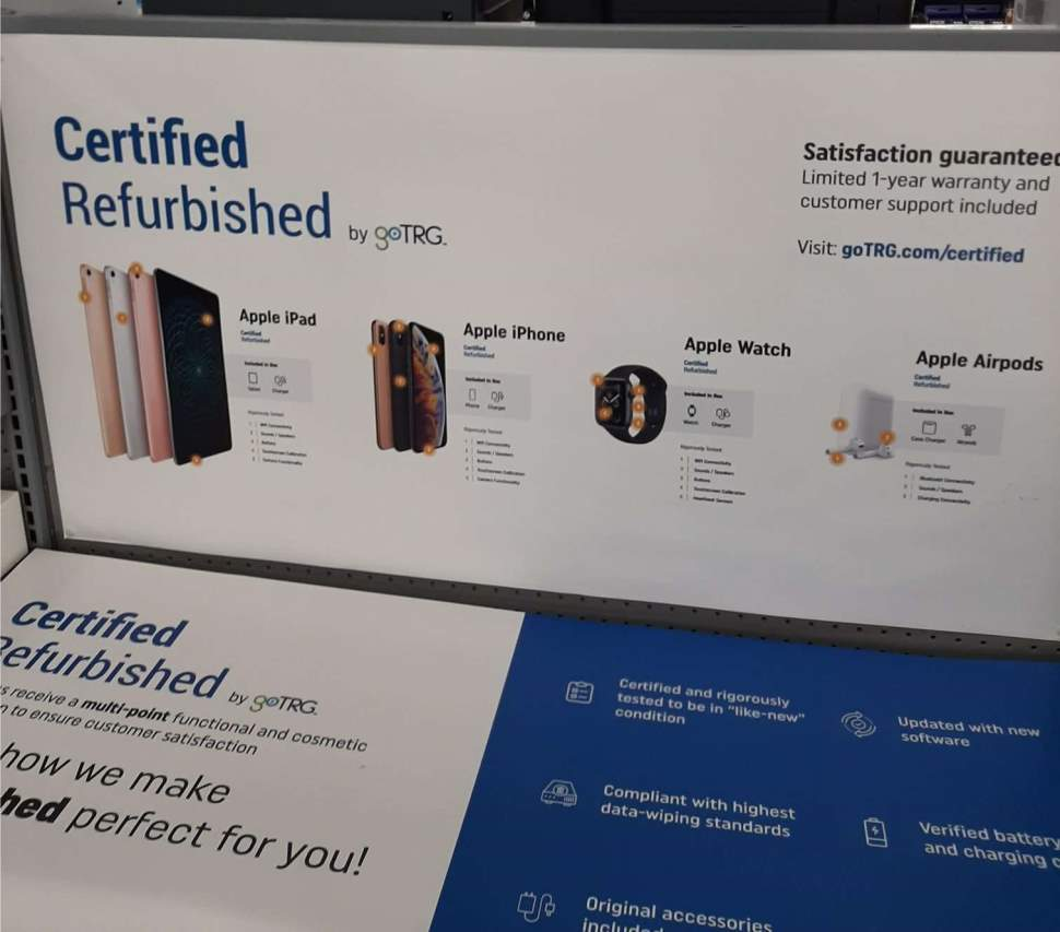 A Small Number Of Walmart Locations Like This Asheville North Carolina Area Store Are Testing The Sale Of goTRG Certififed Refurbished Apple Products