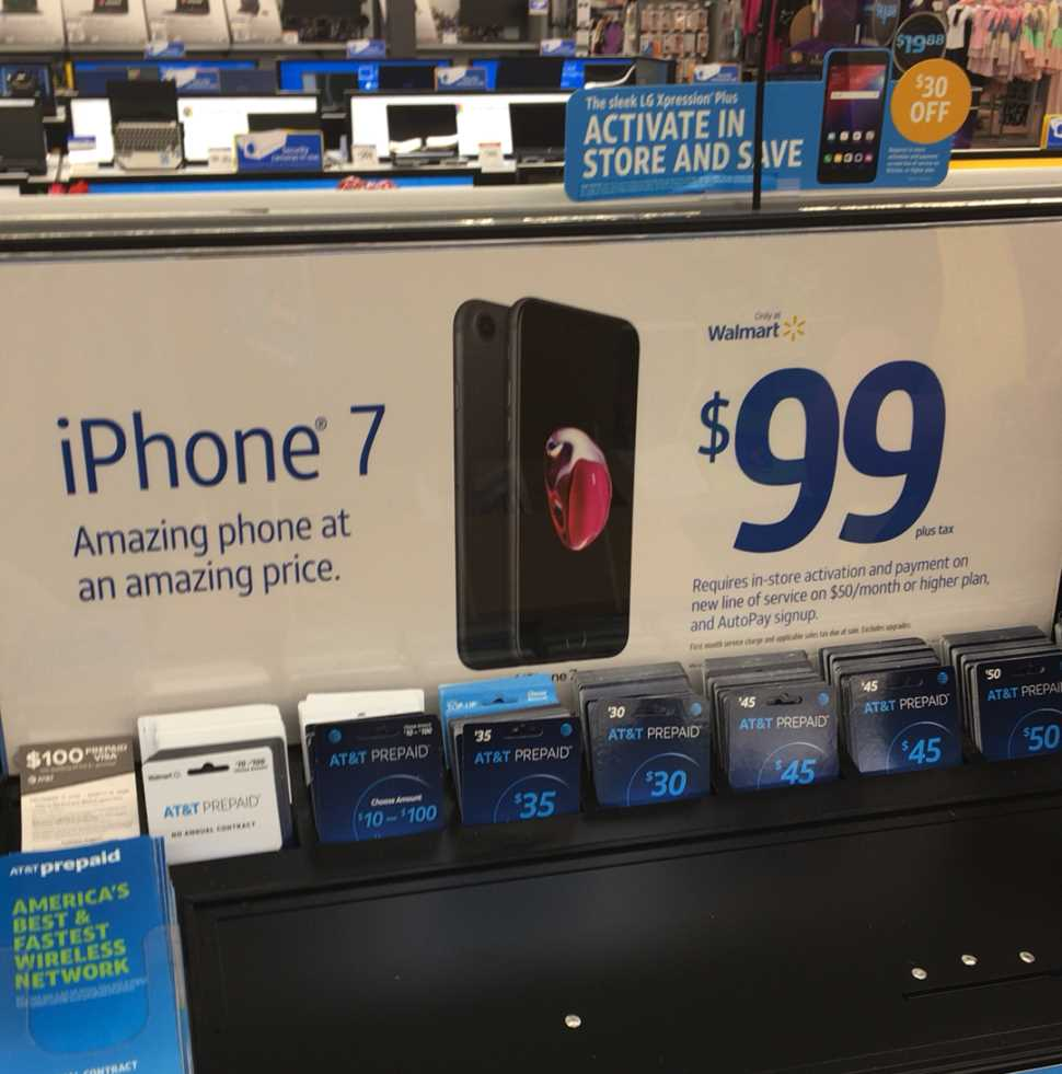 BestMVNO's Gilbert Lopez Spotted AT&T Prepaid iPhone 7 For $99 At Local Area Walmart