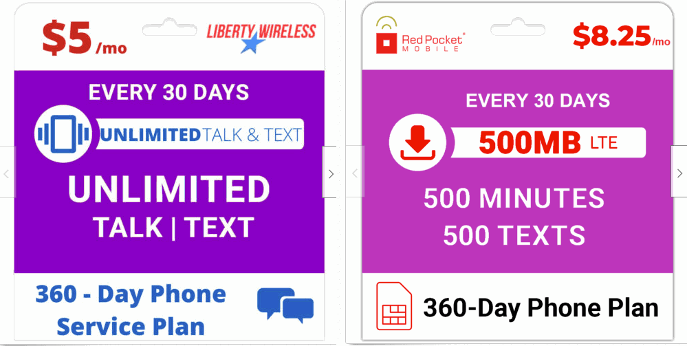 Liberty Wireless And Red Pocket Mobile eBay Plan Graphics Are Very Similar
