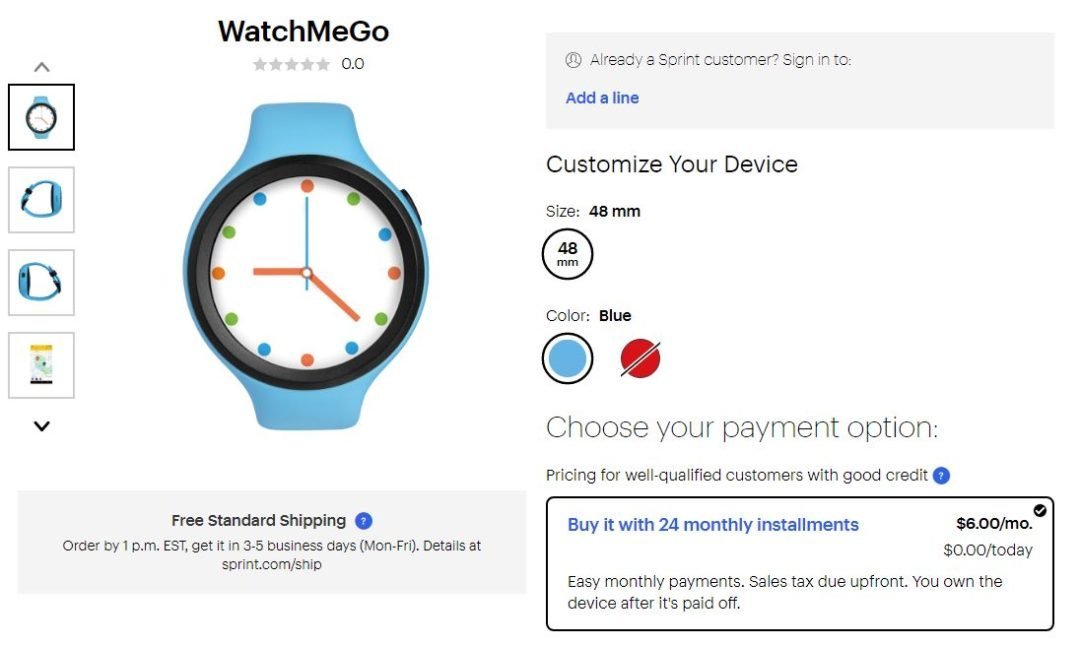 Sprint Launches WatchMeGo A Wearable For Children