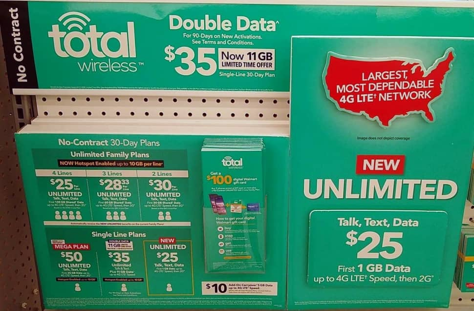 Total Wireless Walmart Bonus Data Promo (Image Via BestMVNO's Gilbert Lopez)