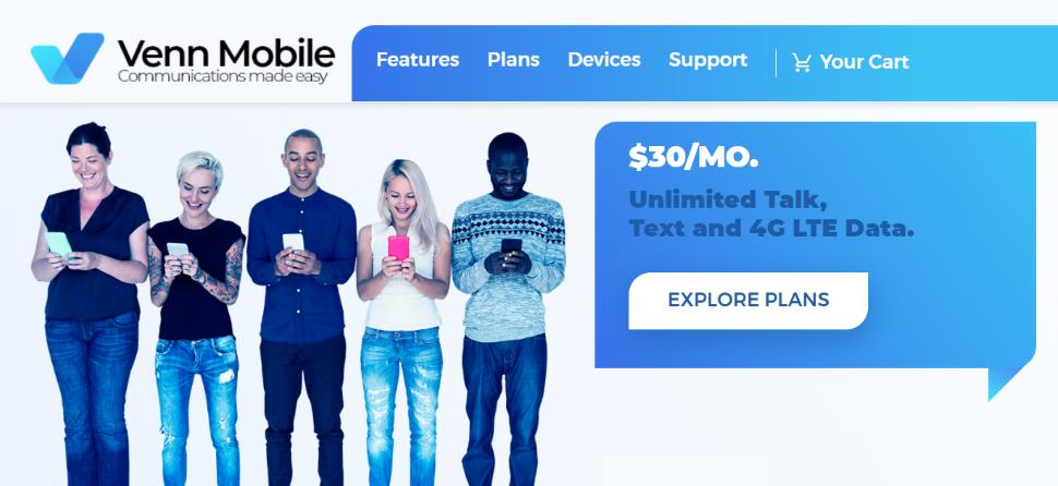 Venn Mobile Launches Unlimited Plan For $30/Month
