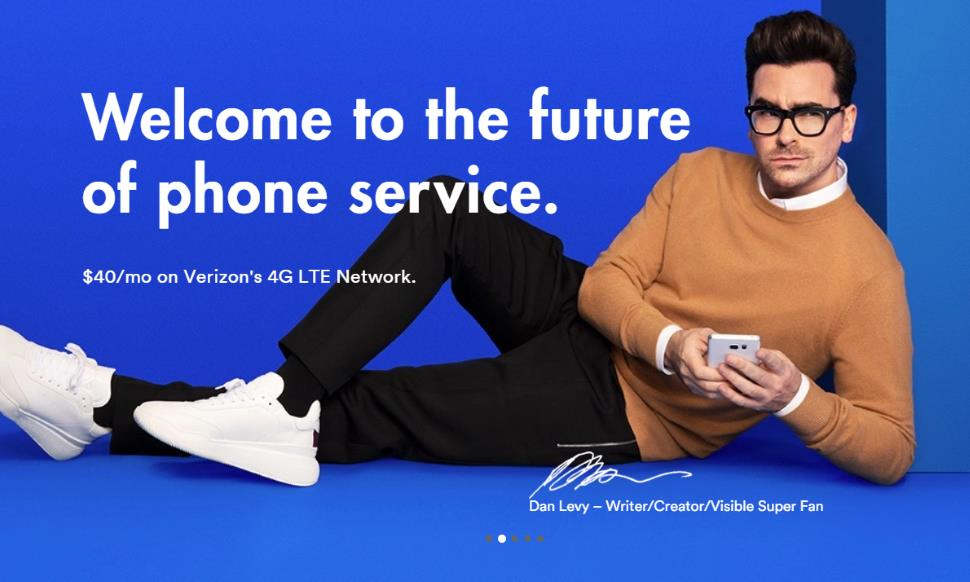 Actor Dan Levy Now Featured On Visible's Homepage