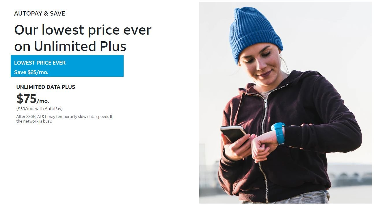 AT&T Prepaid $25 Auto-pay Discount On $75 Unlimited Plan