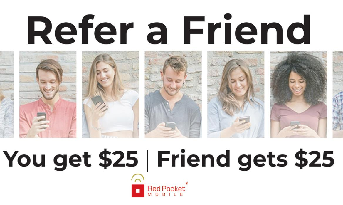 Red Pocket Mobile Has Launched A Refer A Friend Program