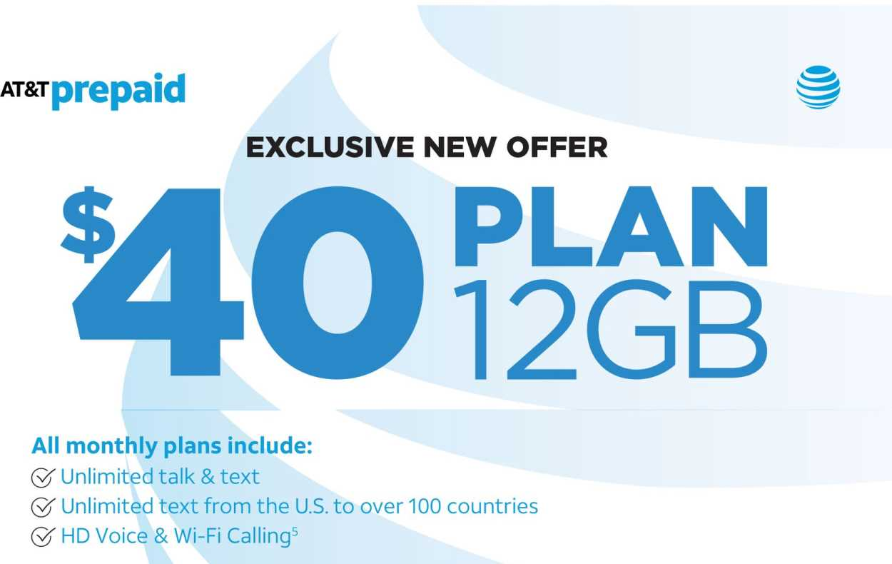There's A New $40 Dealer Exclusive Plan From AT&T Prepaid