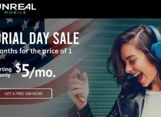 Unreal Mobile Memorial Day Weekend 2020 Sale