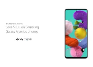 Xfinity Mobile $100 Off Samsung Galaxy A Series Phone Promo