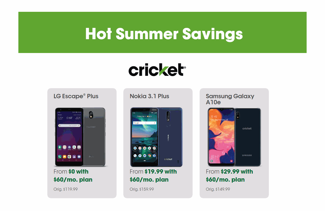 Cricket Wireless Launches New Phones And Phone Promos