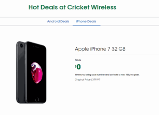 "Cricket's Latest ""Hot Deals"" Include Free iPhone 7 Offer"