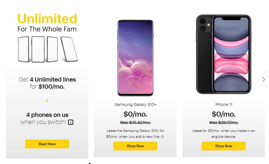Sprint's Website Still Advertises 4 Unlimited Lines For $100