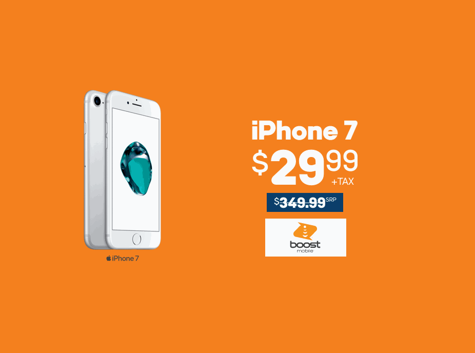 The iPhone 7 Is $29.99 At Boost Mobile