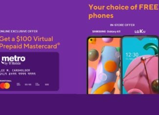 Metro By T-Mobile Now Offering $100 Virtual Prepaid Mastercard & Free Samsung Galaxy A11s