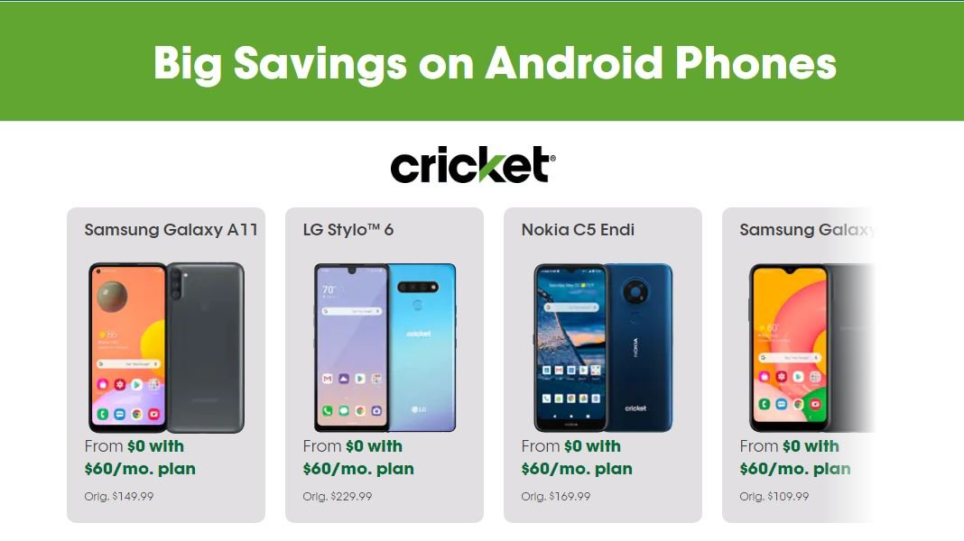 Cricket Wireless Heads To November 2020, With New Free Phone Offers