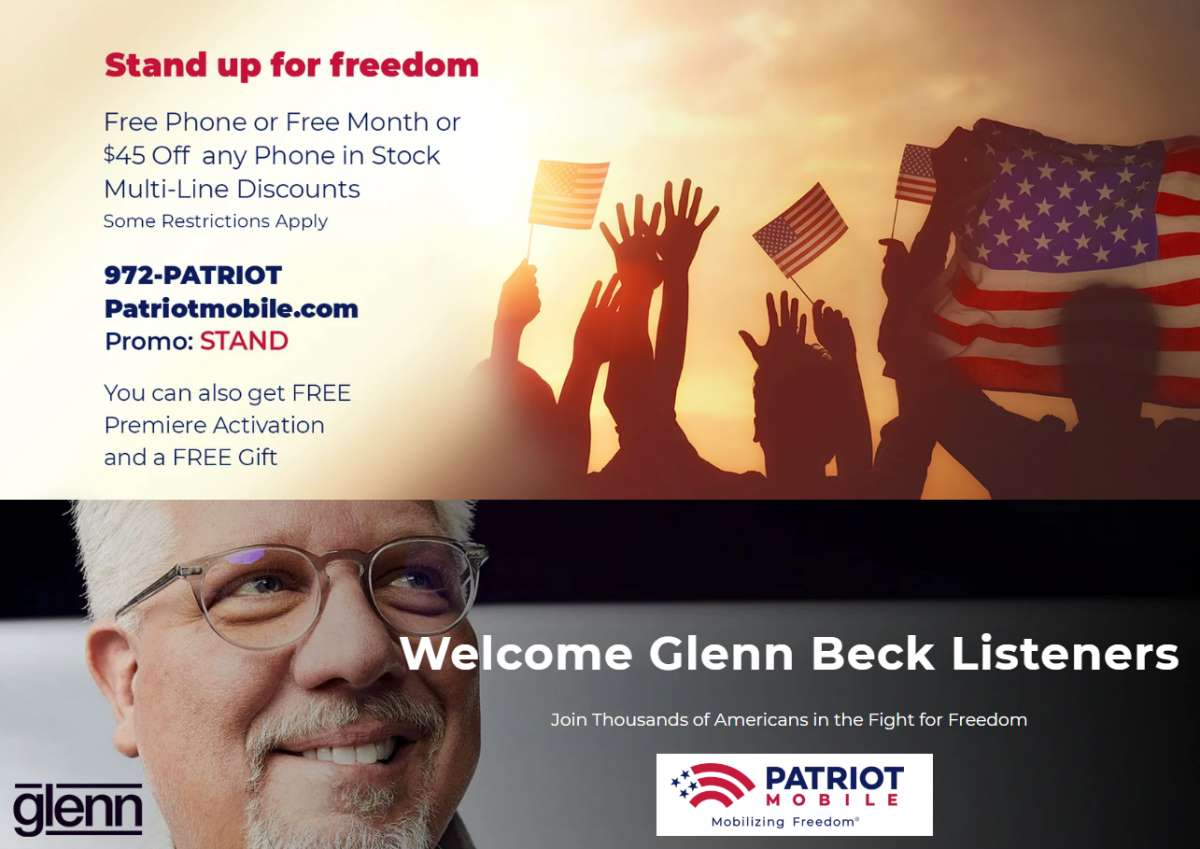 Patriot Mobile Has Been Running Radio Ads During Glenn Beck
