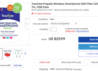 Tracfone Wireless October 2020 eBay Deal