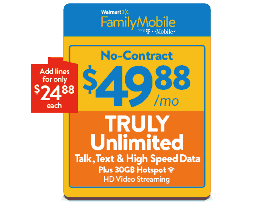 Walmart Family Mobile's Most Expensive Plan Now Includes 30GB Mobile Hotspot