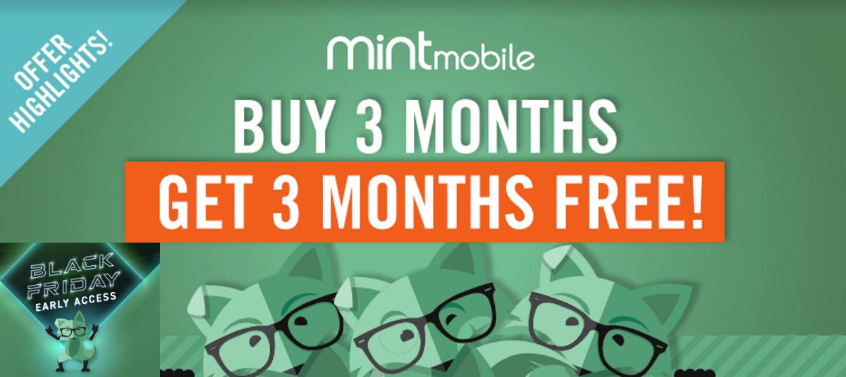 Mint Mobile Brings Back Buy 3-Months Get 3-Months Free Offer
