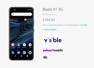 ZTE Blade X1 5G Launches At Visible And Yahoo Mobile
