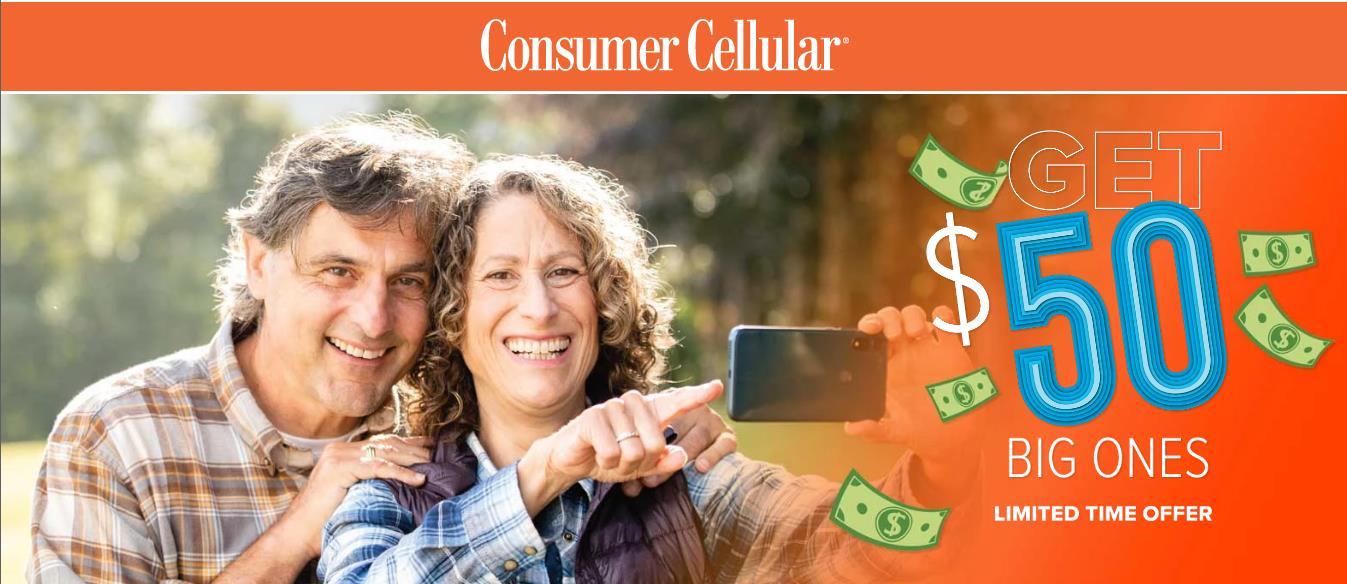 Consumer Cellular Brings Back Get $50 Big Ones Offer