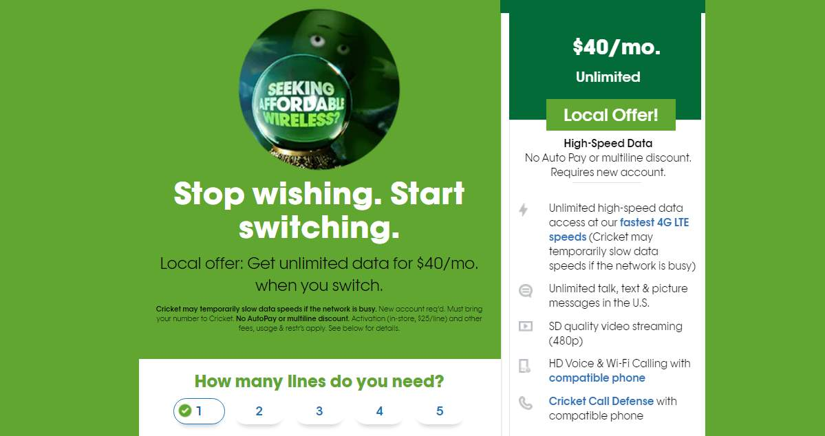 Cricket Wireless Has $40 Unlimited Plan Offer Available In Select Markets