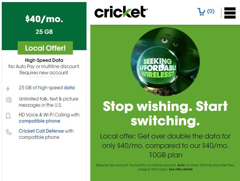 Cricket Wireless More Than Double Data Offer Available In Select Markets