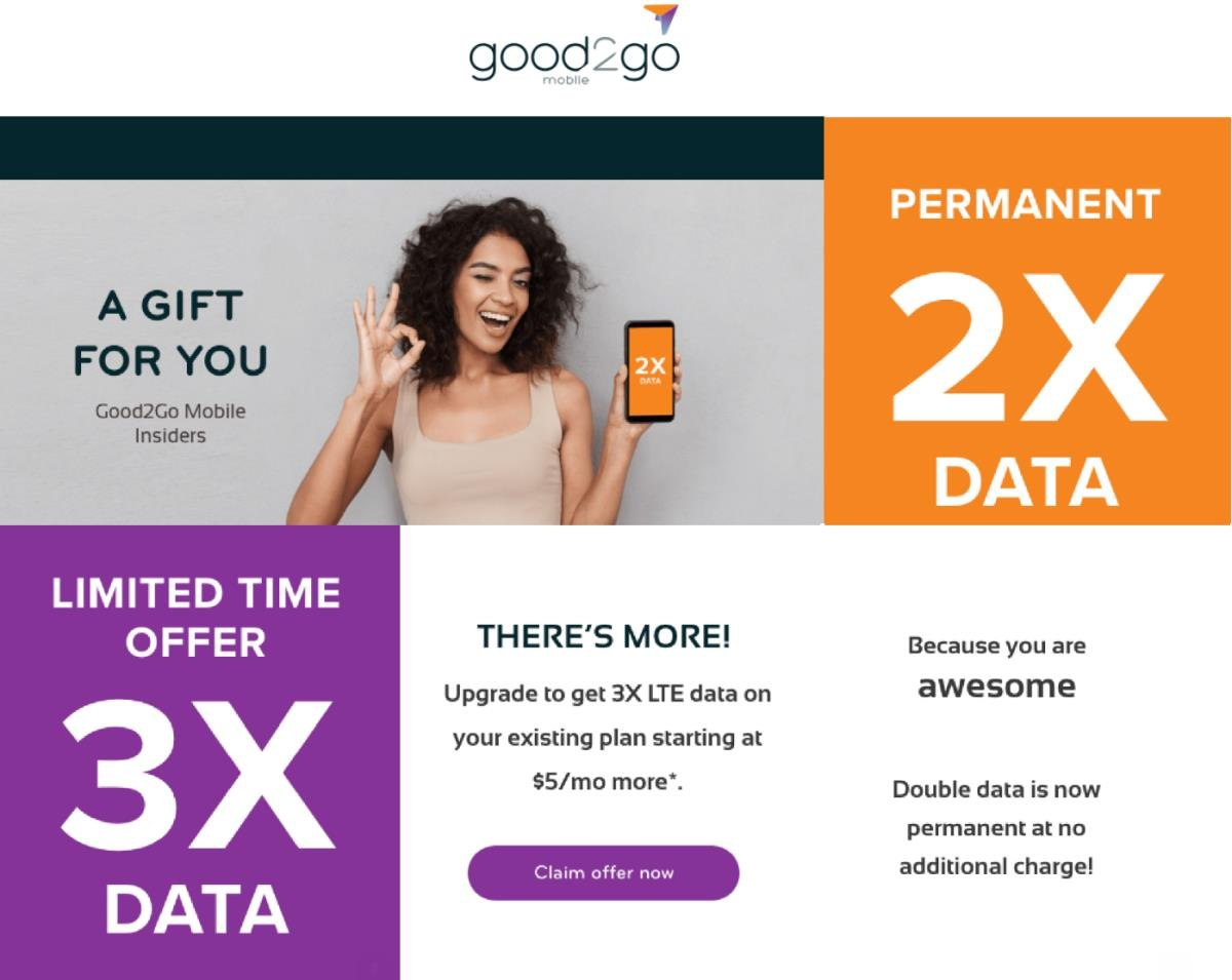 Current Good2Go Mobile Subscribers Get Permanent Double Data And Offer For 3X Data