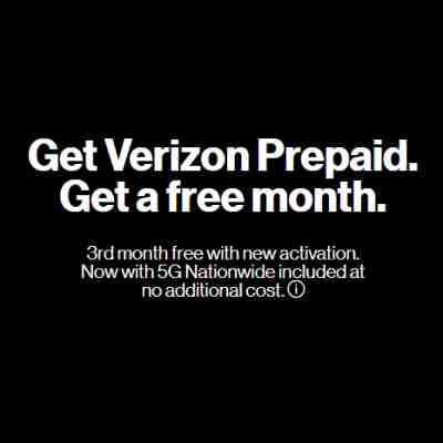 Verizon Prepaid Free Third Month