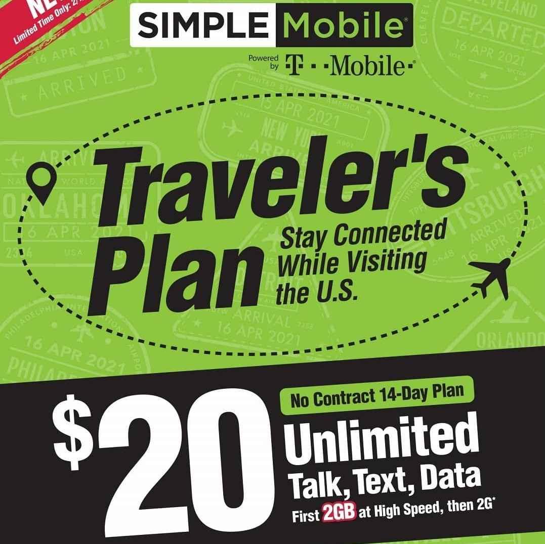 Simple Mobile's Traveler's Plan