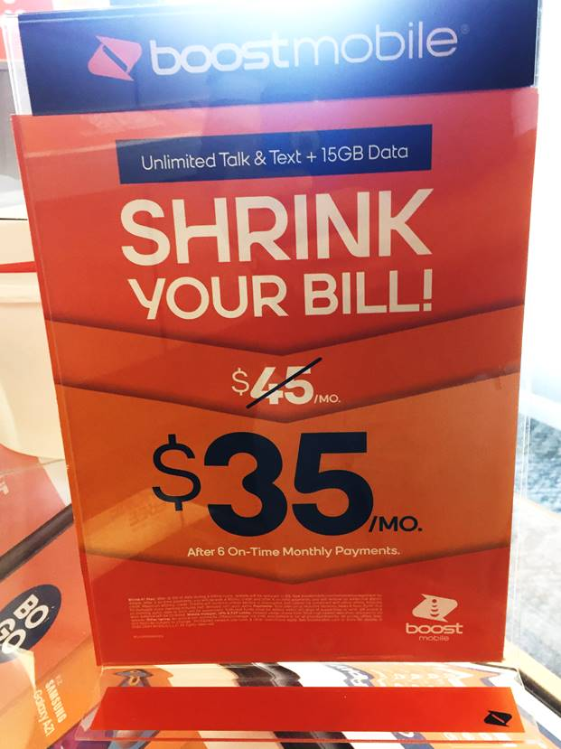 Boost Mobile Shrink It Plan Has Reached End Of Life
