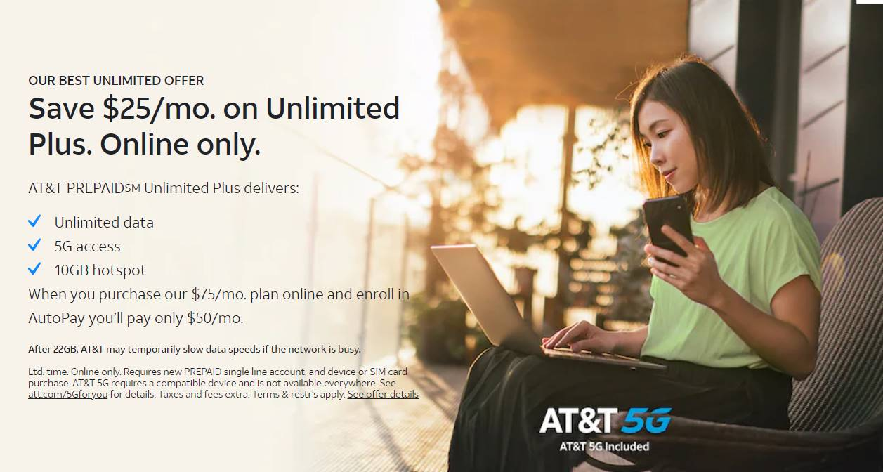 AT&T Prepaid Brings Back $25/Month Discount On Unlimited Plus Plan
