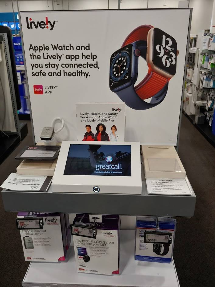 Best Buy Lively Endcap With Mix Of Old And New Branding (Photo Provided By Wave7 Research)