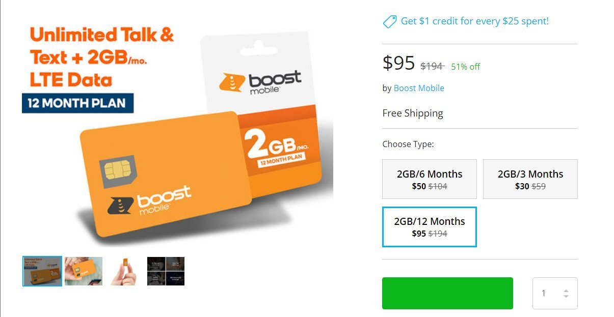 Boost Mobile Trialing Multi-Month Discount Plans