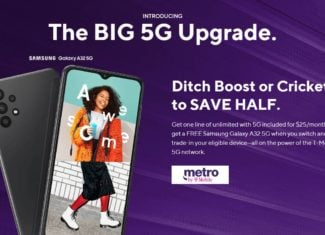 Metro by T-Mobile $25 Unlimited Plan With Free Samsung Galaxy A32 5G Switcher Offer