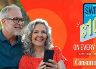 Consumer Cellular $100 Dollar Credit For New Lines Promo